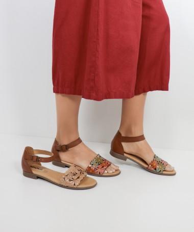 Sandálias de Senhora Ginova às Flores
