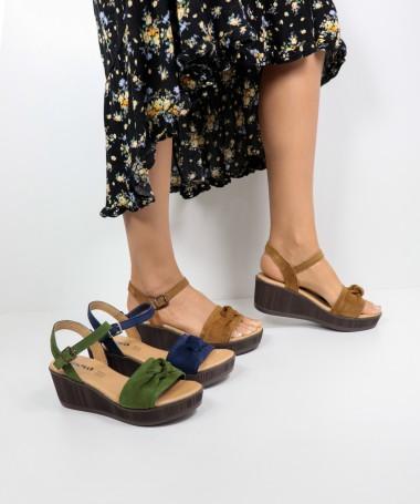 Sandálias de Senhora em Cunha Ginova com Nó