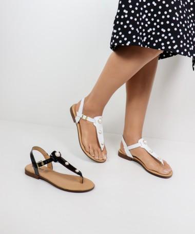 Sandálias de Senhora Ginova com Pérolas