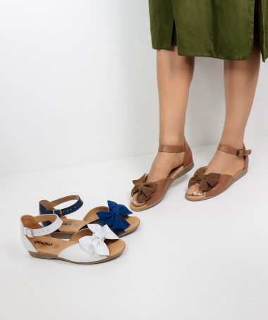 Sandálias de Senhora com Laço na Frente