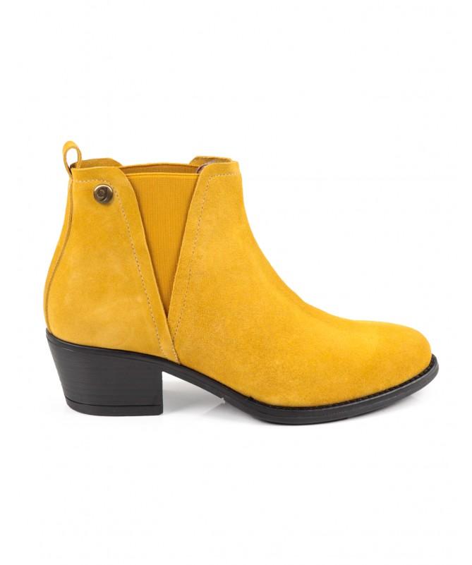 Botas Amarelo de Salto Médio Femininas Ginova