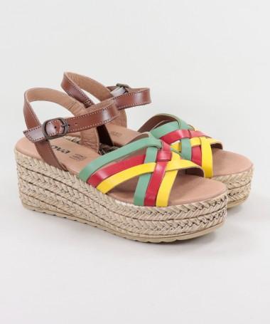 Sandálias de Senhora Ginova de Plataforma