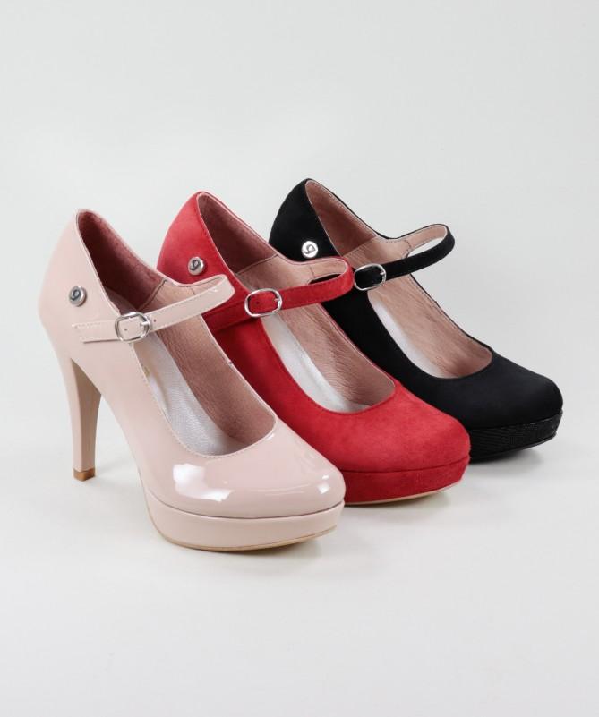 Sapatos Elegantes Ginova em Camurça