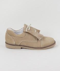 Sapatos Taupe em Pele de Carneira Ginova