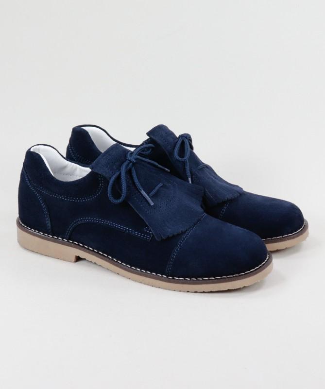 Sapatos Azuis em Pele de Carneira Ginova