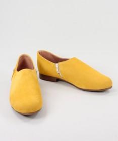 Sapatos Amarelos Rasos Ginova de Fecho