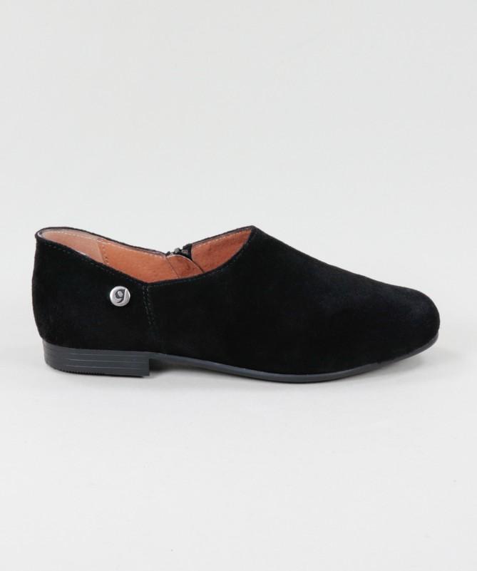 Sapatos Pretos Rasos Ginova de Fecho