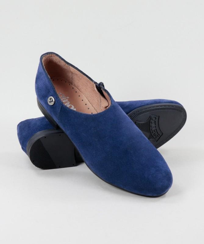 Sapatos Azuis Rasos Ginova de Fecho