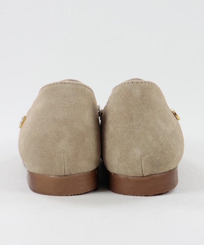 Sapatos Taupe Rasos Ginova de Fecho