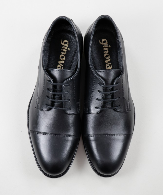 Sapatos de Homem Ginova com Atacador e Sola de Borracha