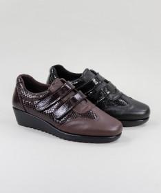 Sapatos de Mulher de Velcro Ginova