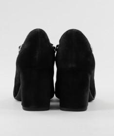 Botins Pretos de Senhora Ginova de Salto Médio