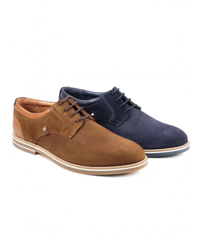 Sapato de Homem Ginova em Camurça