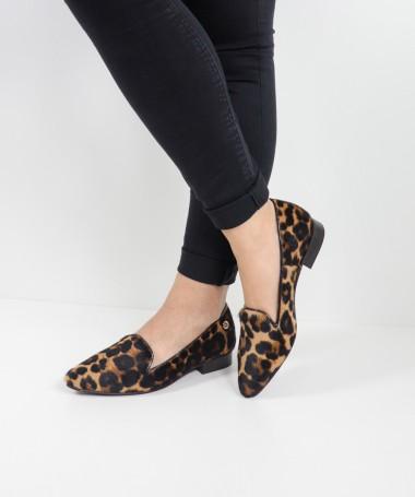 Sapatos Rasos Ginova Leopardo
