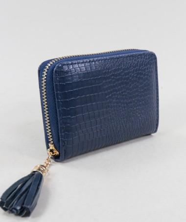 Carteira Feminina Azul com Berloque