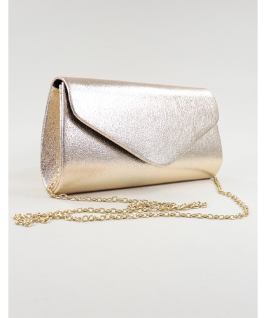 Pochete Dourada de Senhora Tipo Envelope