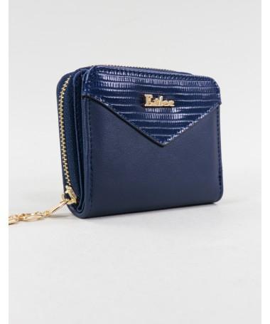 Carteira Azul de Senhora com Fecho