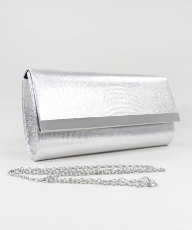 Pochete Prata de Senhora Elegante