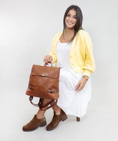 Mochila Camel de Senhora com Fivelas