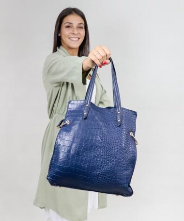Mala Azul de Senhora com Divisórias no Interior
