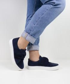 Sapatilhas Azul Ginova Femininas com Laço