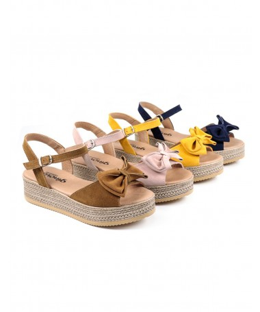 Sandálias de Plataforma de Senhora Ginova com Laço