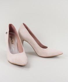 Stilettos Rosa de Senhora Ginova em Camurça