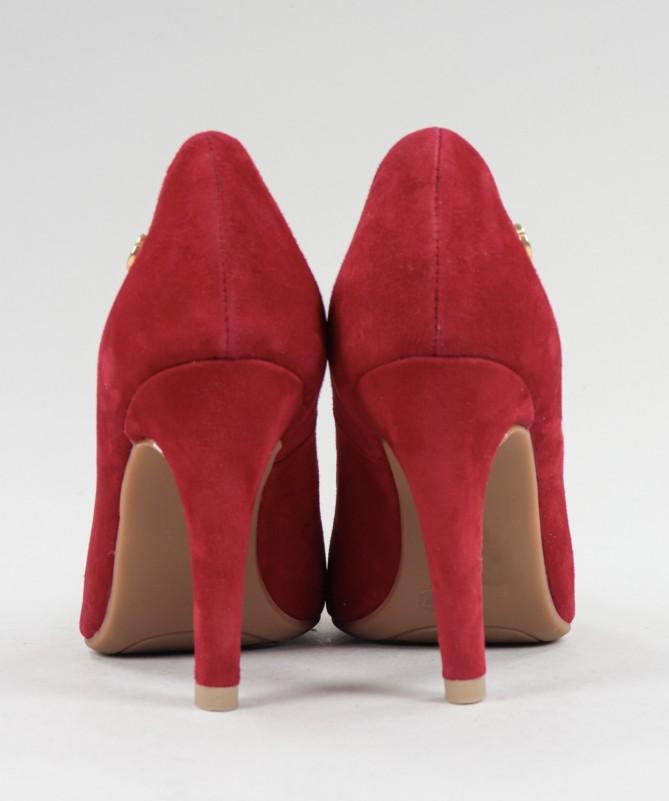 Stilettos Vermelhos de Senhora Ginova em Camurça