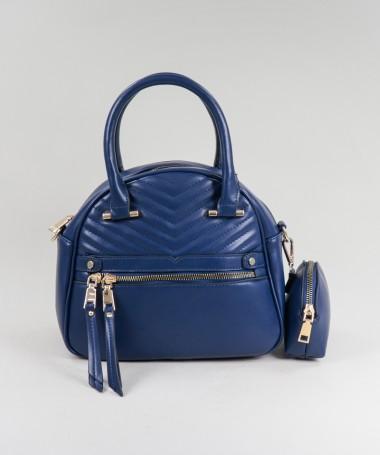 Mala Azul de Senhora com Mini Carteira