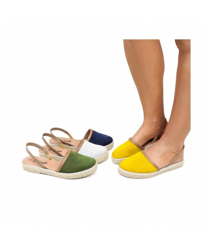 Sandálias Rasas de Senhora Ginova com Esparto