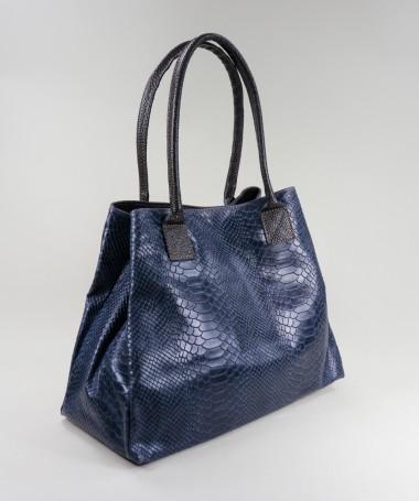 Mala Azul de Senhora Shopper
