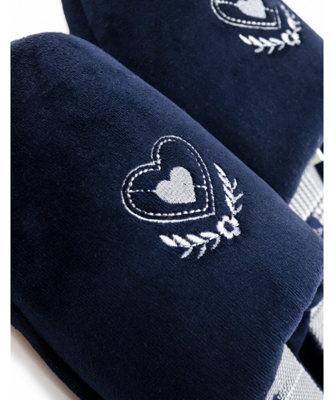 Chinelos de Quarto de Senhora Azuis DeFonseca Coração