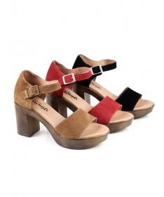Sandálias de Mulher Ginova Compensada Fechada Atrás