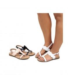 Sandálias Rasas de Senhora Ginova em Verniz