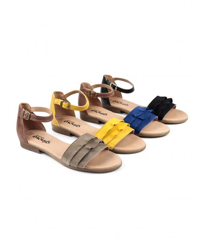 Sandálias Baixas de Senhora Ginova com Folhos