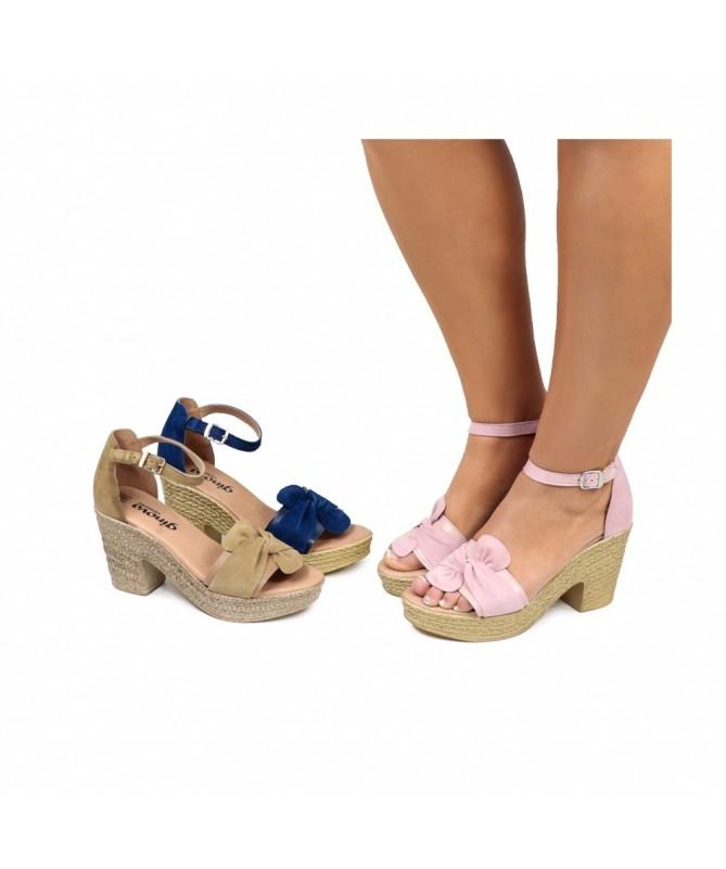 Sandálias Compensadas de Mulher Ginova