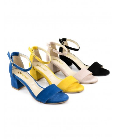Sandálias de Mulher Ginova Meio Tacão
