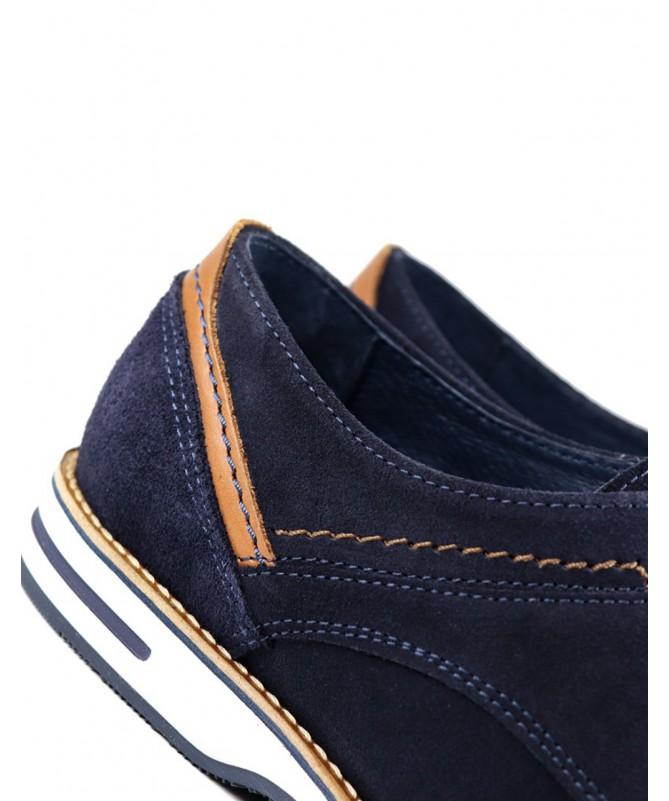 Sapatos de Homem Azuis Ginova de Camurça
