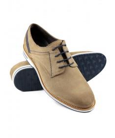 Sapatos de Homem em Taupe Ginova de Camurça
