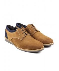 Sapatos de Homem Casual Camel com Duas Tonalidades Ginova