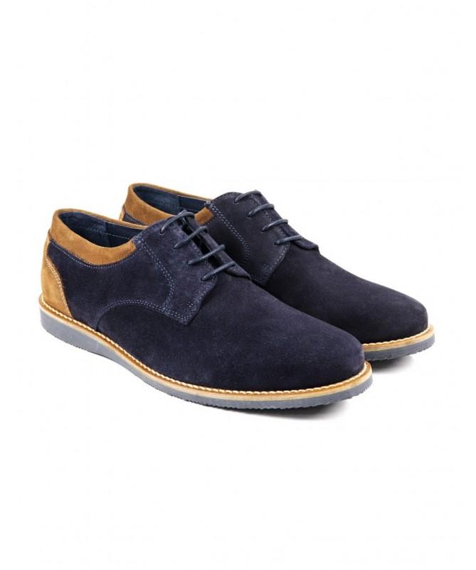 Sapatos de Homem Casual Azuis com Duas Tonalidades Ginova