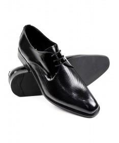 Sapatos de Homem Ginova Pretos em Verniz
