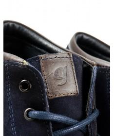Botas de Homem Azuis com Rebordo em Pele Ginova