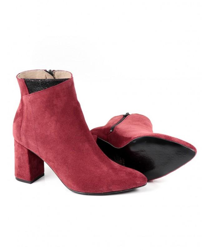 Botas de Mulher em Bordô Elegante de Tacão Ginova