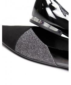 Sapatos de Senhora Ortopédico Baixo Pretos com Glitter Piccadilly