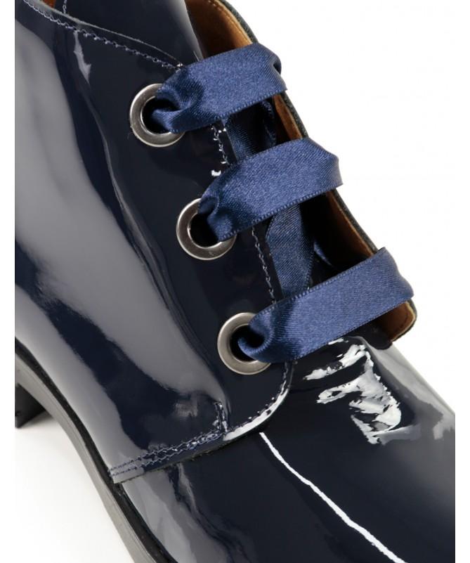 Botas Azul Envernizadas Femininas Ginova