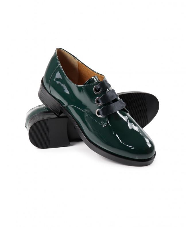 Sapatos Verdes Envernizados de Mulher Ginova