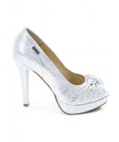 Sapatos Prata de Senhora Elegantes com Nó Ginova