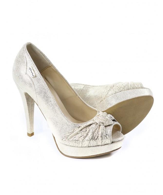 Sapatos Dourados de Senhora Elegantes com Nó Ginova