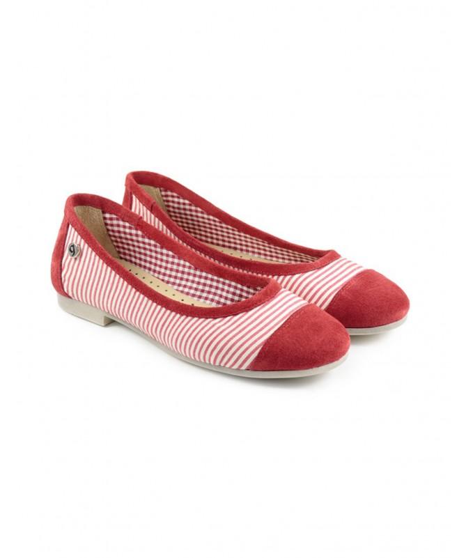 Sabrinas de Senhora Ginova Vermelhas com Riscas